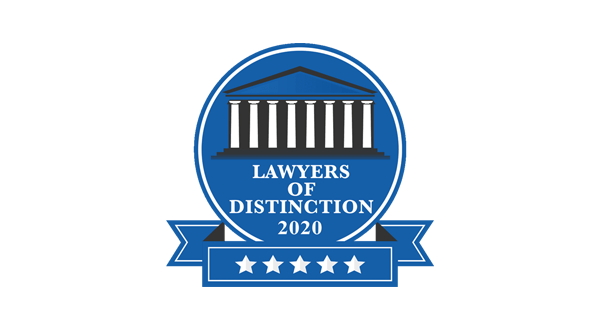 Lawyers of Distinction 2020 badge